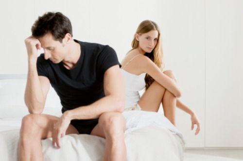 încetarea erecției în timpul actului sexual